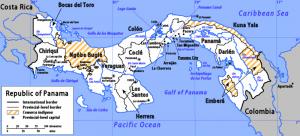 Les provinces de Panama et les communautés indiennes.
